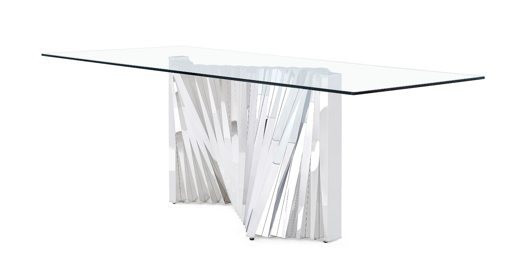 Global Usa G2056 Ii Turquoise Mirrored Base Contemporary Dining