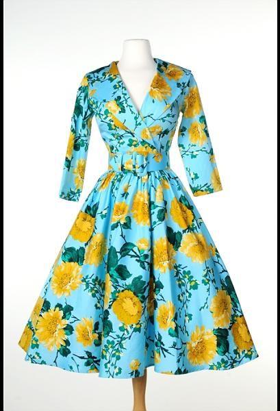 Birdie Dress Floral, Baby Blue