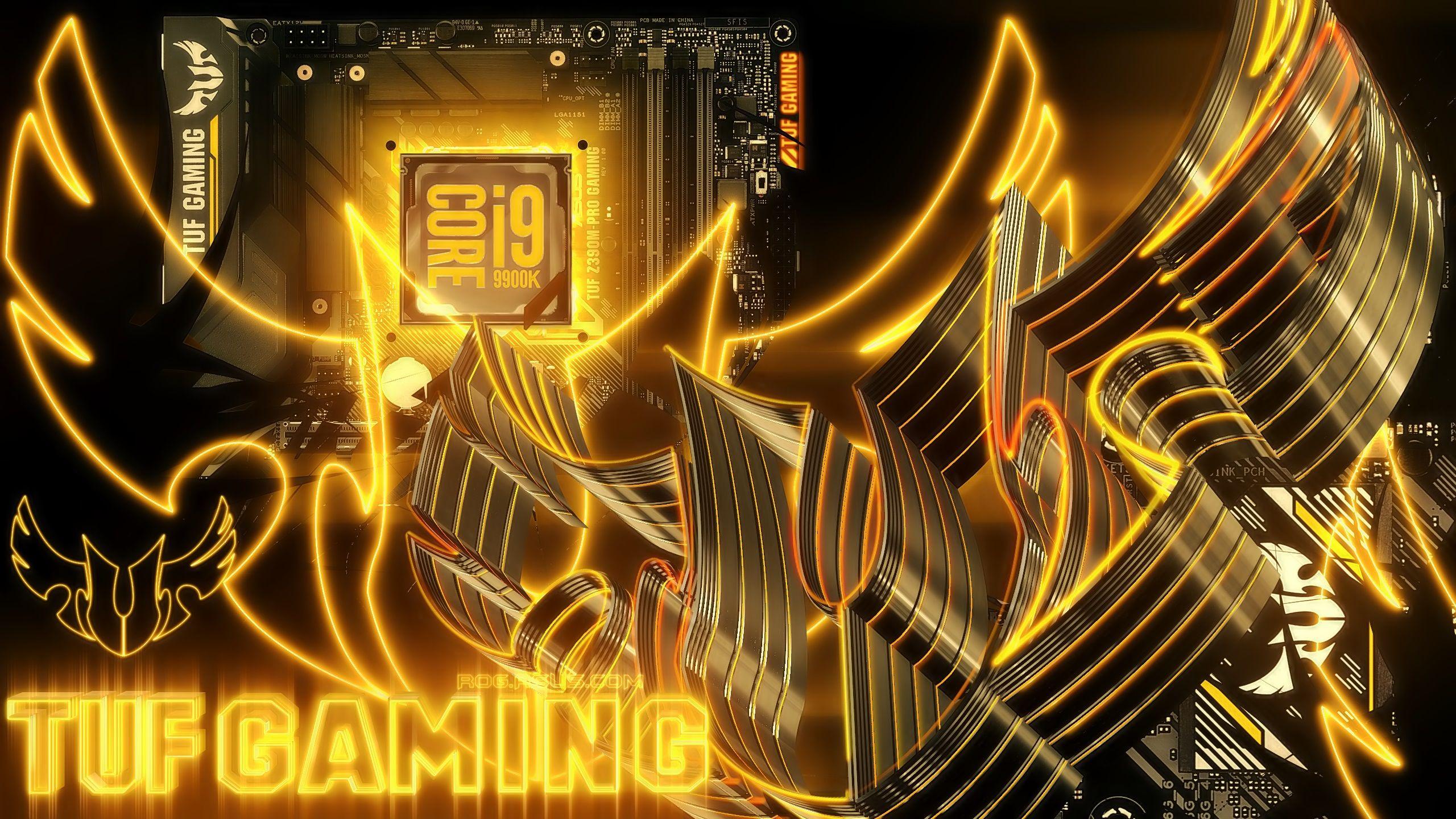 Asus Z390M TUF Pro Wallpaper, Neon signs, Asus