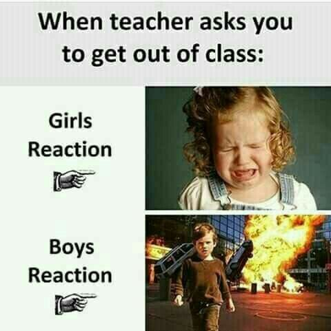 Girls Vs Boys Funny School Jokes Funny School Memes Latest Funny Jokes