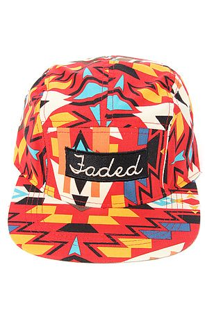 60b0e810e3c Faded Royalty Hat Aztec 5-Panel in Red