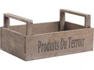 Cagette bois foncé. Rangez vos légumes du jardin ou produits du Marché avec cette clayette en bois esprit marché de campagne. Dim. 26 x 17 x 8-12 cm