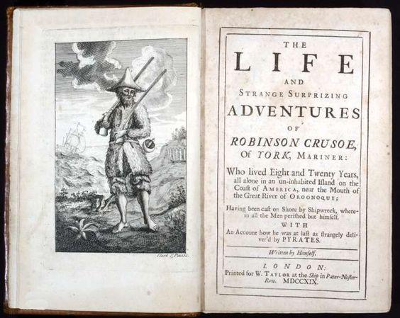 Daniel Defoe Robinson Crusoe 1719 1a Edicio Londres Impres Per