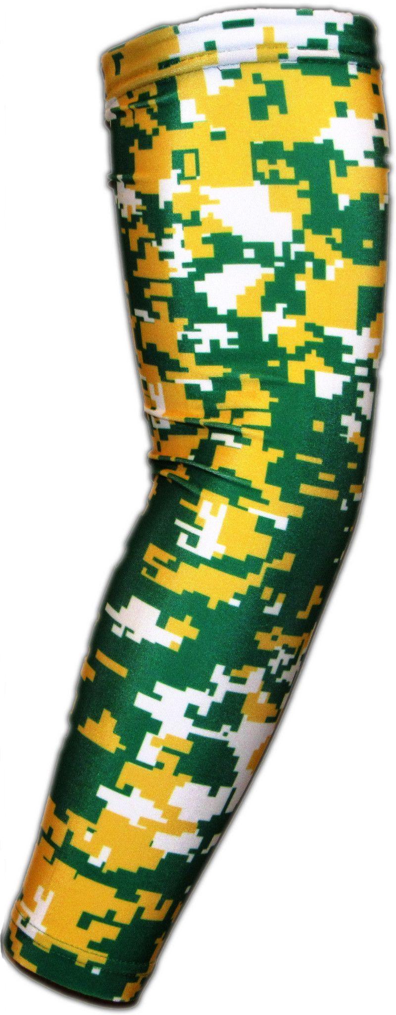 001 White Green Yellow Arm Sleeves