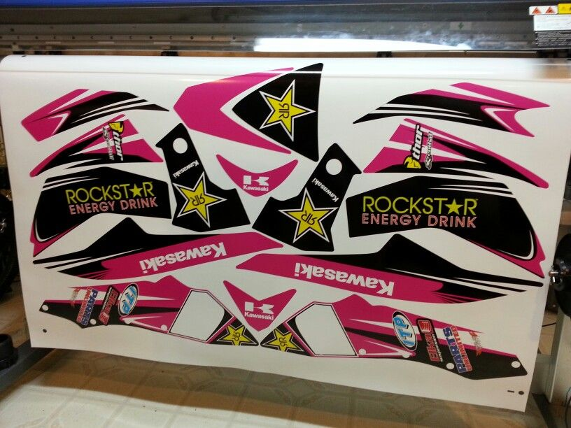 Kawasaki kfx 450 pink girls graphics kit wrap