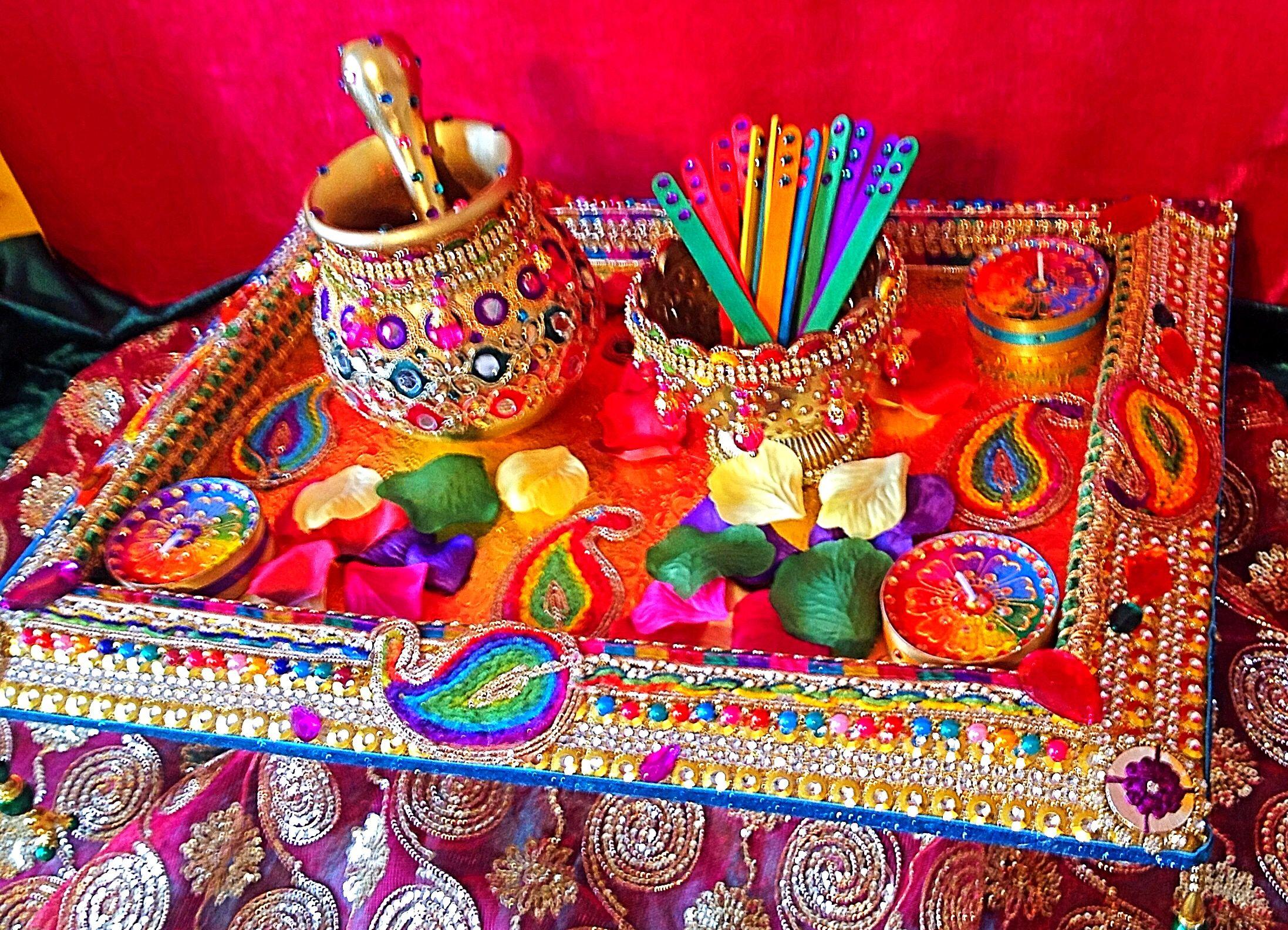 Mehndi Plates Uk : Another of my multicoloured mehndi plates mehdi plate design