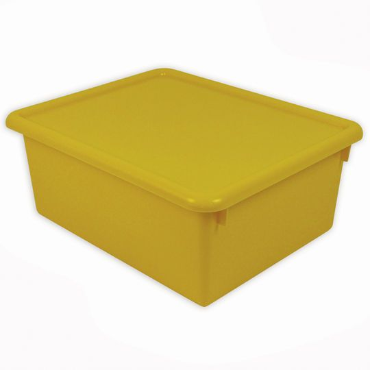 Stowaway Yellow Letter Box with Lid, 3 Count