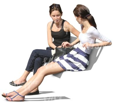 Two Women Sitting And Talking Cut Out People Pinterest