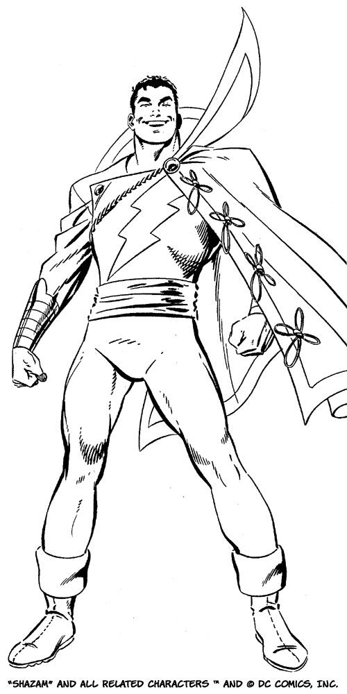 John Byrne Captain Marvel Shazam Marvel Coloring Captain Marvel