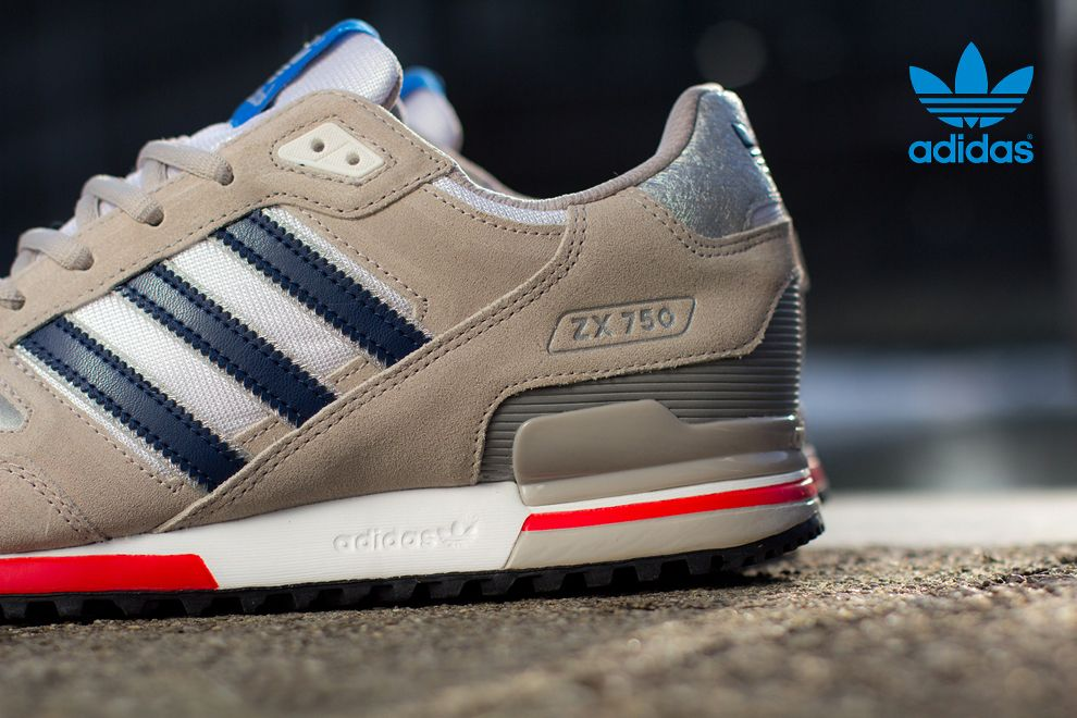 Best Drop Shipping Adidas ZX 750 Couple running shoes Gray green