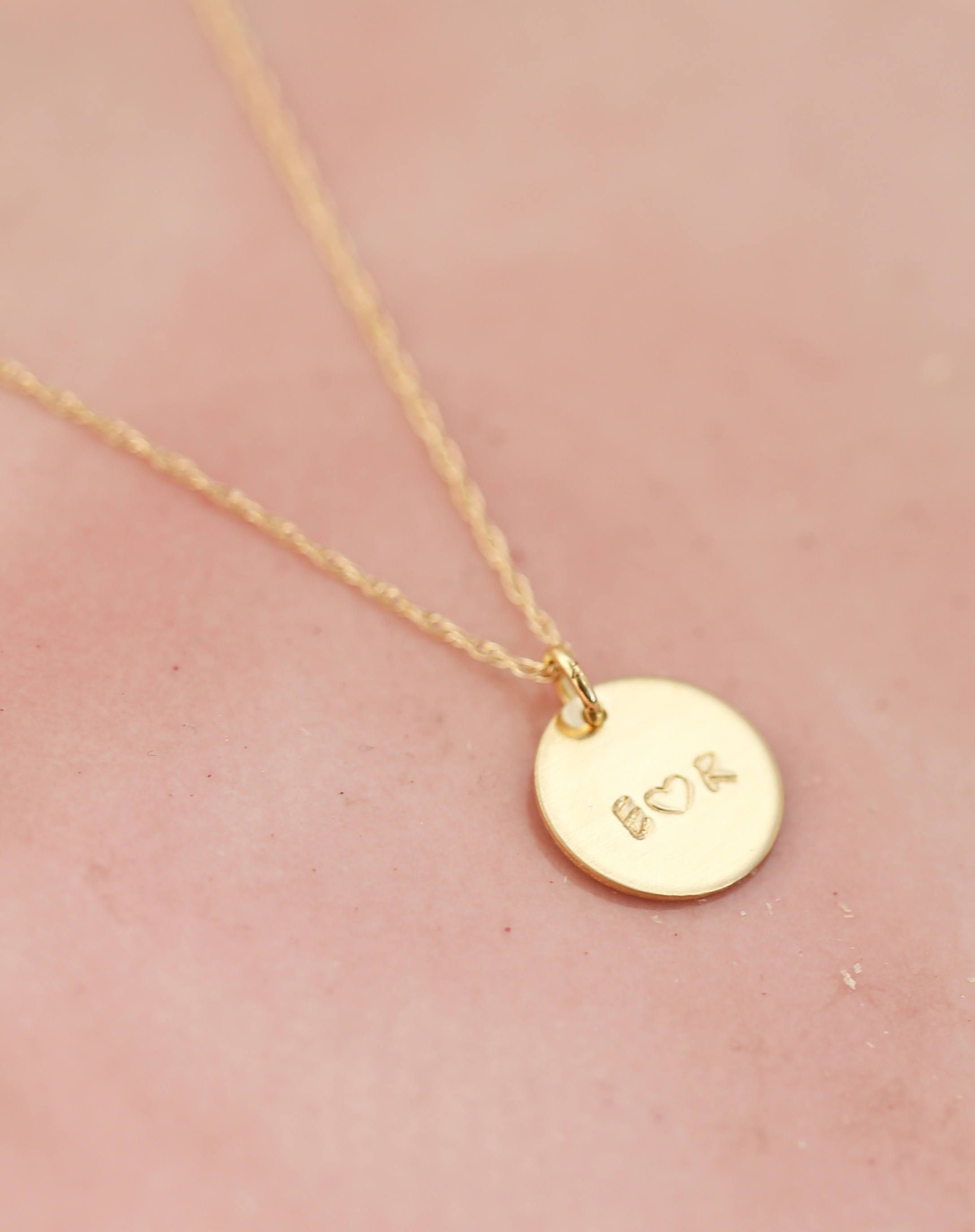 Christmas gift for her Gold Personalized Pendant Love Necklace