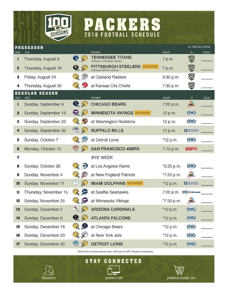 This is an image of Green Bay Packers Printable Schedule with regard to outline