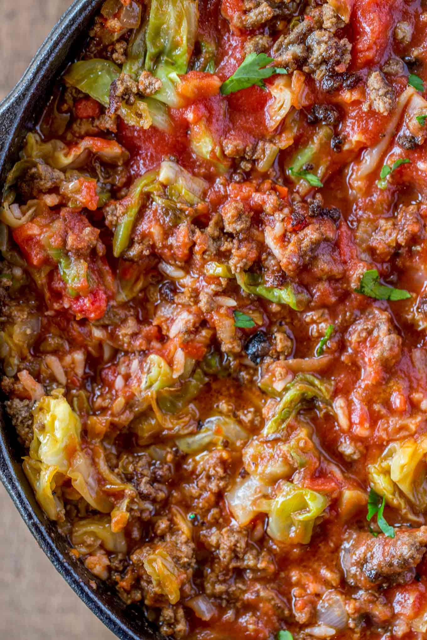 Stuffed Cabbage Soup Made With Ground Beef Rice Cabbage And Fresh Tomato Sauce On Your Stovetop In Just Thirty Cabbage Soup Recipes Cabbage Soup Soup Dinner
