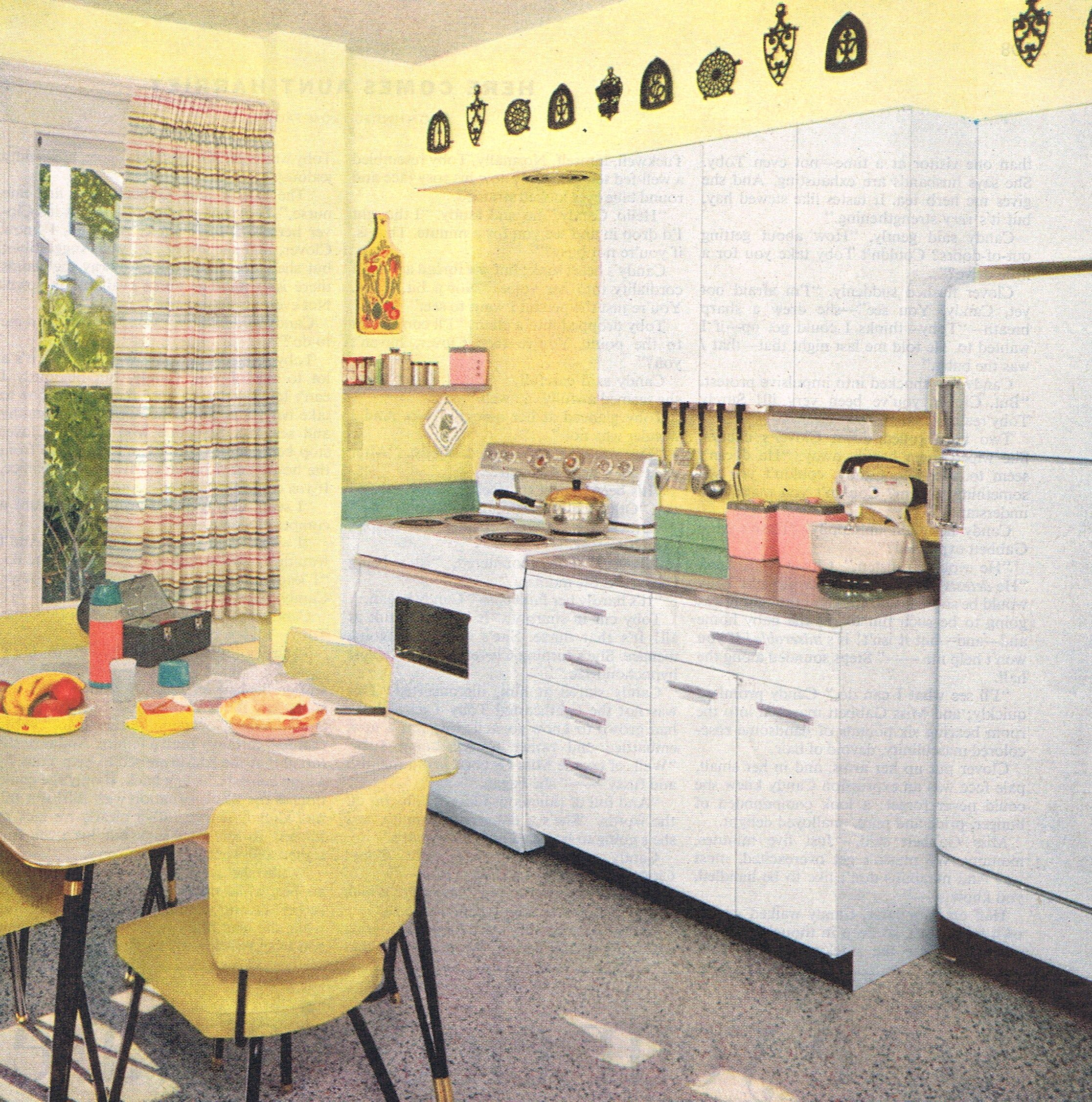 bright kitchen design 1957 interesting for color 60 pinterest cuisine vintage ann es. Black Bedroom Furniture Sets. Home Design Ideas