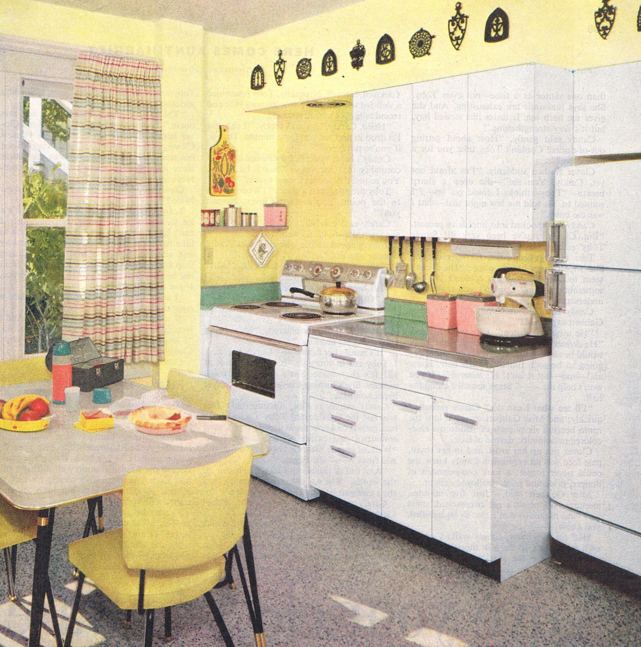 Best Bright Kitchen Design 1957 Mid Century Modern Kitchens 400 x 300
