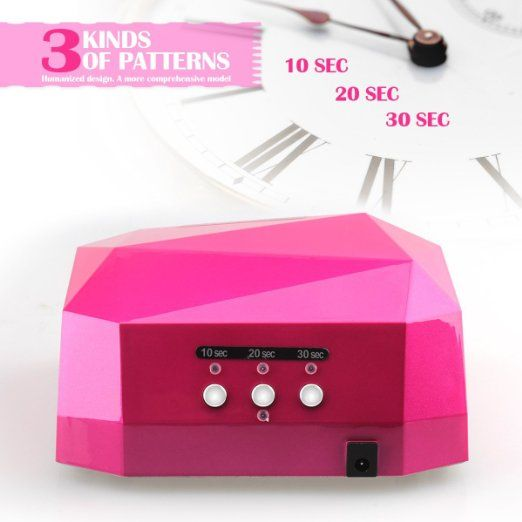 Amazon Com Perfect Summer Creative 36 Watt 12w Ccfl 24w Led Uv Led Light Lamp 100 220v Fast Quick Drying Curing Nail Dryer For Cure Nails Gel Nail Polish Uv Led