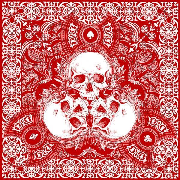 2014 Sturgis Motorcycle Rally  Sugar Skull Red BIKER BANDANA
