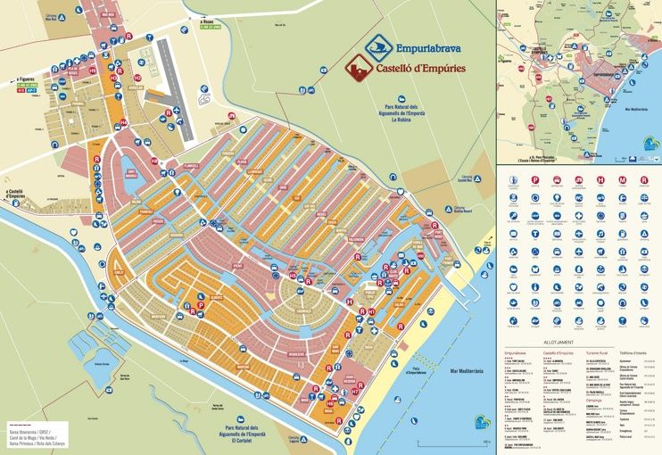Empuriabrava hotels and sightseeings map | Maps | Pinterest | Spain ...