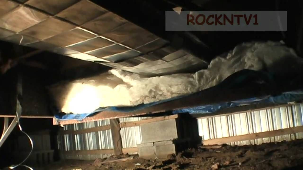 Repairing mobile home trailer insulation and duct work