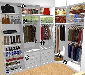 Projetos de closets pequenos com medidas marcenaria for Ideas para closets pequenos