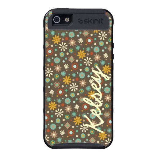 Personalized Autumn Floral Print Orange Cargo Case Cases For iPhone 5