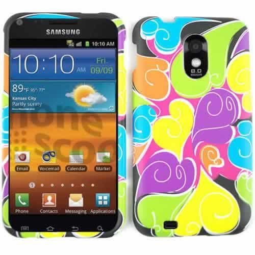 Unlimited Cellular Snap-On Protector Case for SAMD710/R760/GS2 (Colorful Hearts)