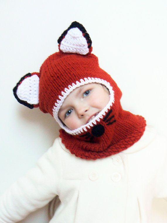 Fox Hat Balaclava Hat Infant Hats Kids Winter Hats Animal by 2mice ...