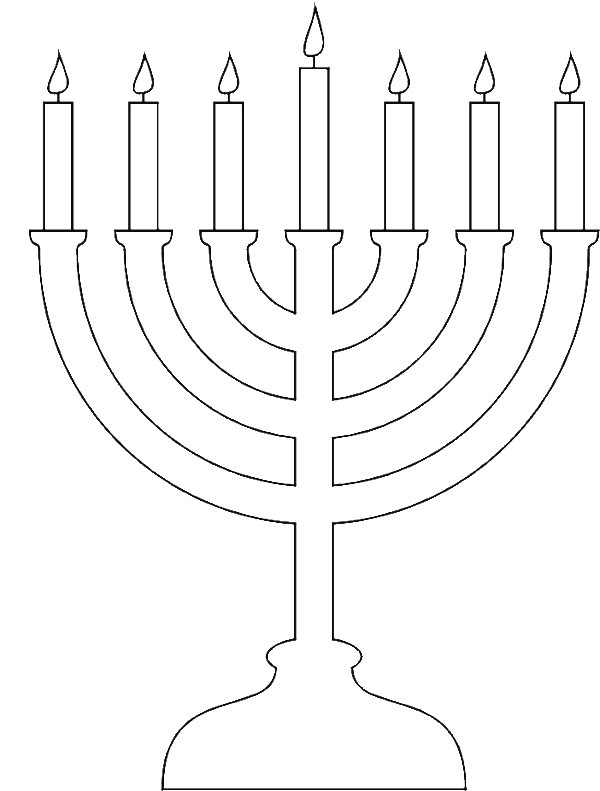 Simple Candles Of Menorah Coloring Pages: Simple Candles Of Menorah ...