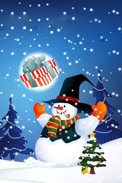 Immagini Di Natale Per Cellulare.Nevicata Con Pupazzo Di Neve E Albero Di Natale Festivita Sfondi Per Cellulare Illustrazione Di Natale Natale Alberi Di Natale