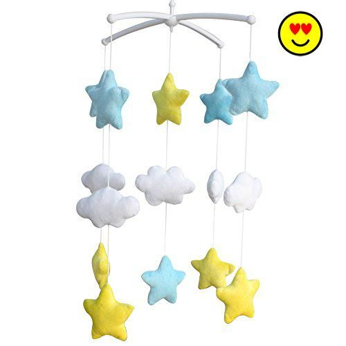 Shiny Stars Adorable Baby Crib Decoration Music Mobile