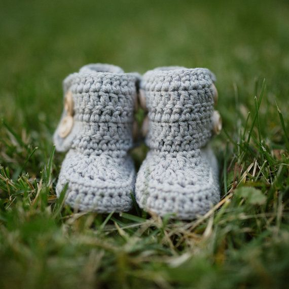 The Button Boot Crochet Pattern Crochet Boot by shopathooked