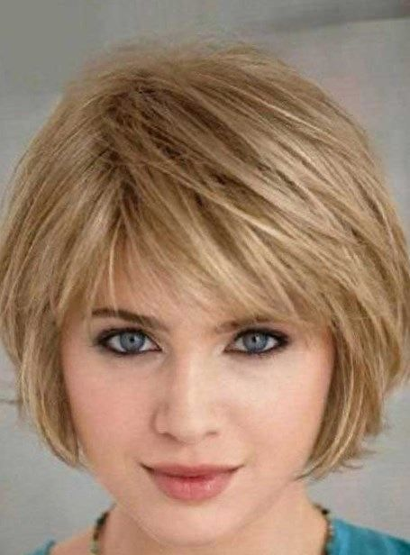 Short Bob Hairstyle With Side Bangs Short Bob Hairstyle With Side Bangs 2017 Short Hair Styles For Round Faces Short Hair Styles Thin Hair Haircuts