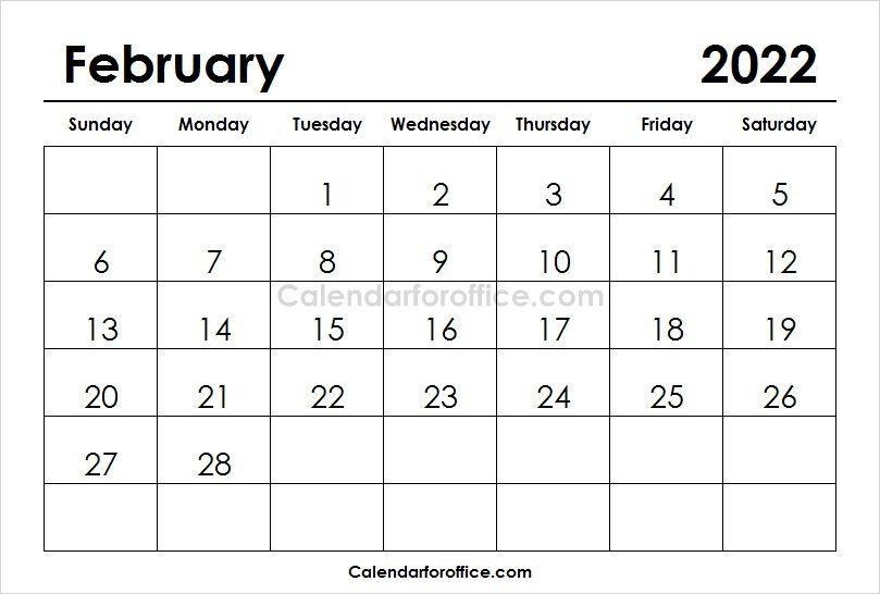 February 2022 Calendar Printable Printable Calendar Design 2021 Calendar Calendar Template