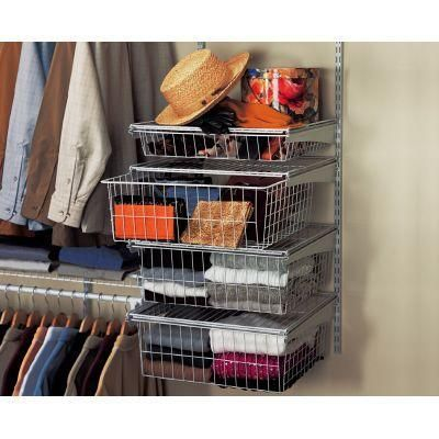 Closetmaid 17 In D X 21 In W X 27 In H Shelftrack 4 Drawer Kit Steel Closet System In White 2815 Closet Storage Systems Wire Closet Shelving Closet Storage