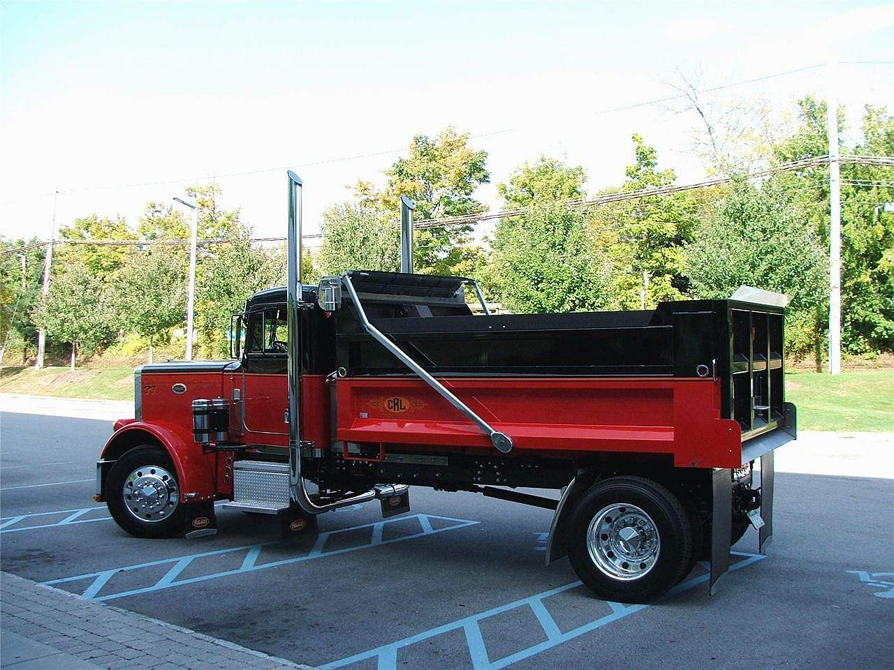 Custom Single Axle Trucks : Pete single axle dump trucks pinterest