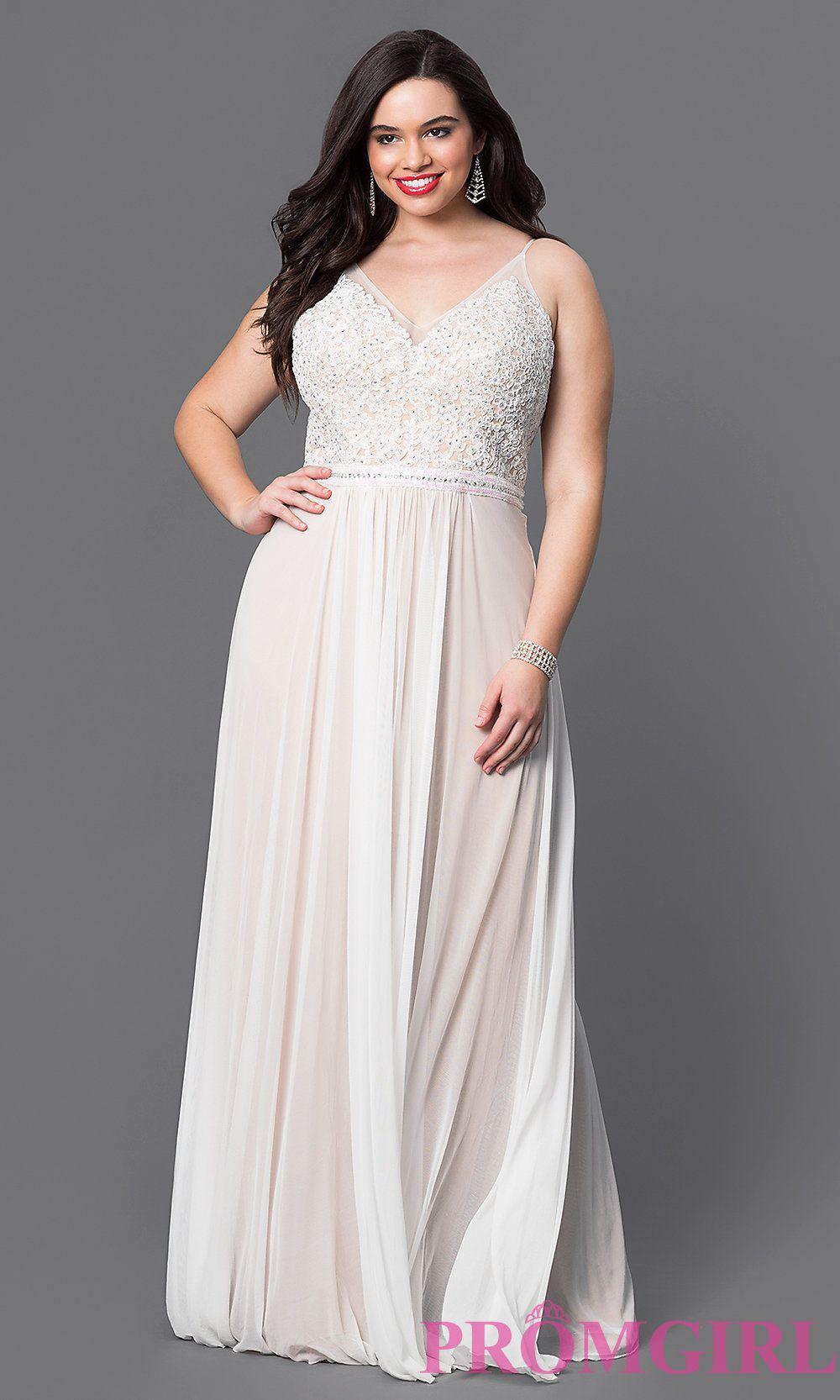 Ivory Plus Size Formal Dresses