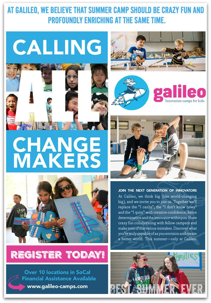Galileo Innovation Summer Camps for Kids (Giveaway!)