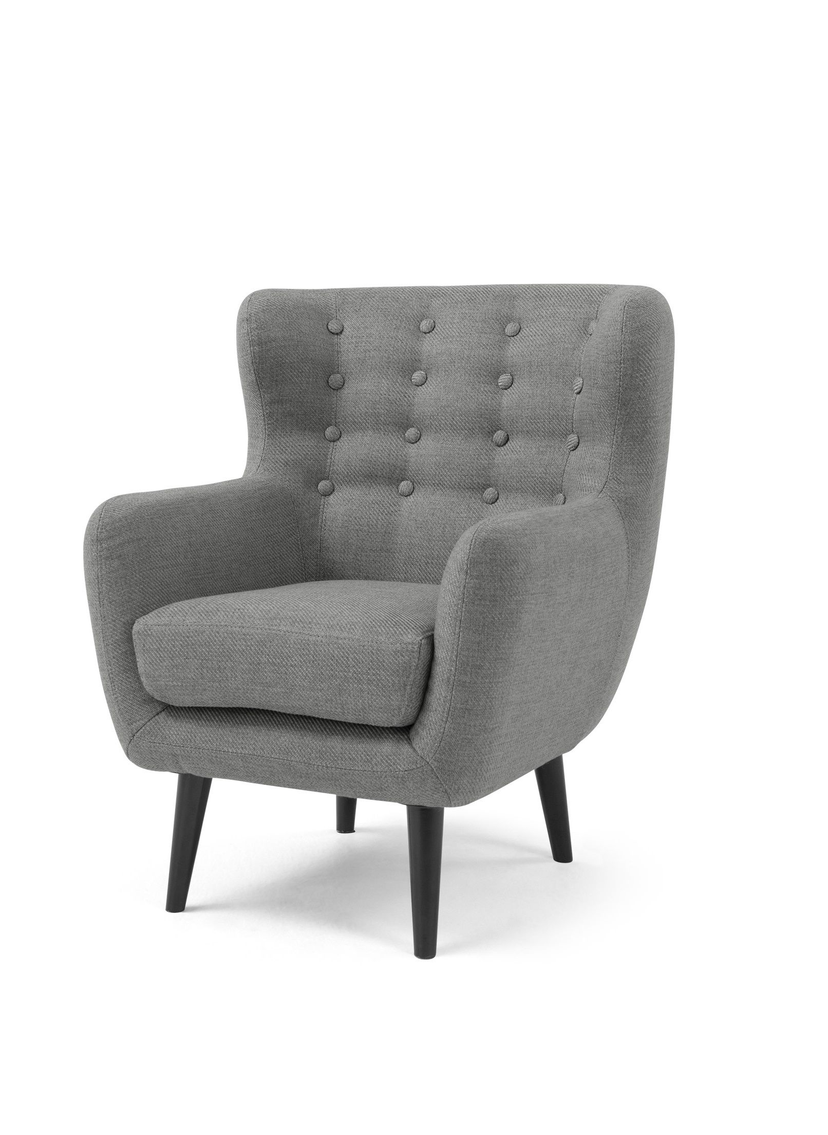 Mini Kubrick Armchair, Pearl Grey
