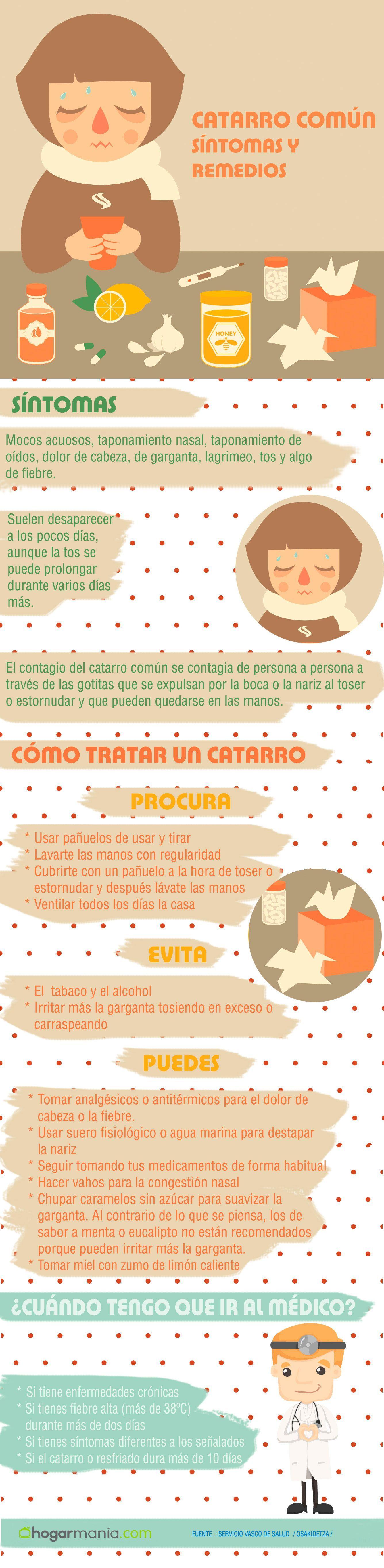 Image result for infografía de catarro Salud, Infografia