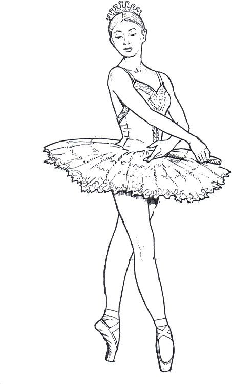 Ballet Dancer 15 Adult Coloring Pages Desenhos De Ballet