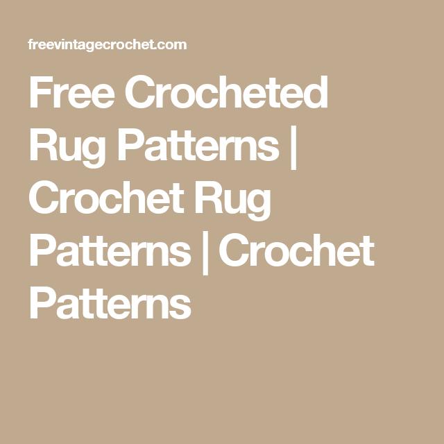 Free Crocheted Rug Patterns | Crochet Rug Patterns | Crochet ...