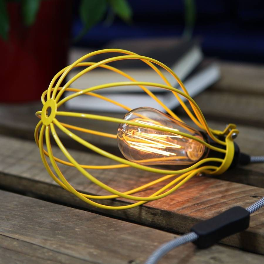 Balloon Cage Lamp With Fabric Cable By Dowsing Reynolds Table Inline Switch Wiring Notonthehighstreetcom