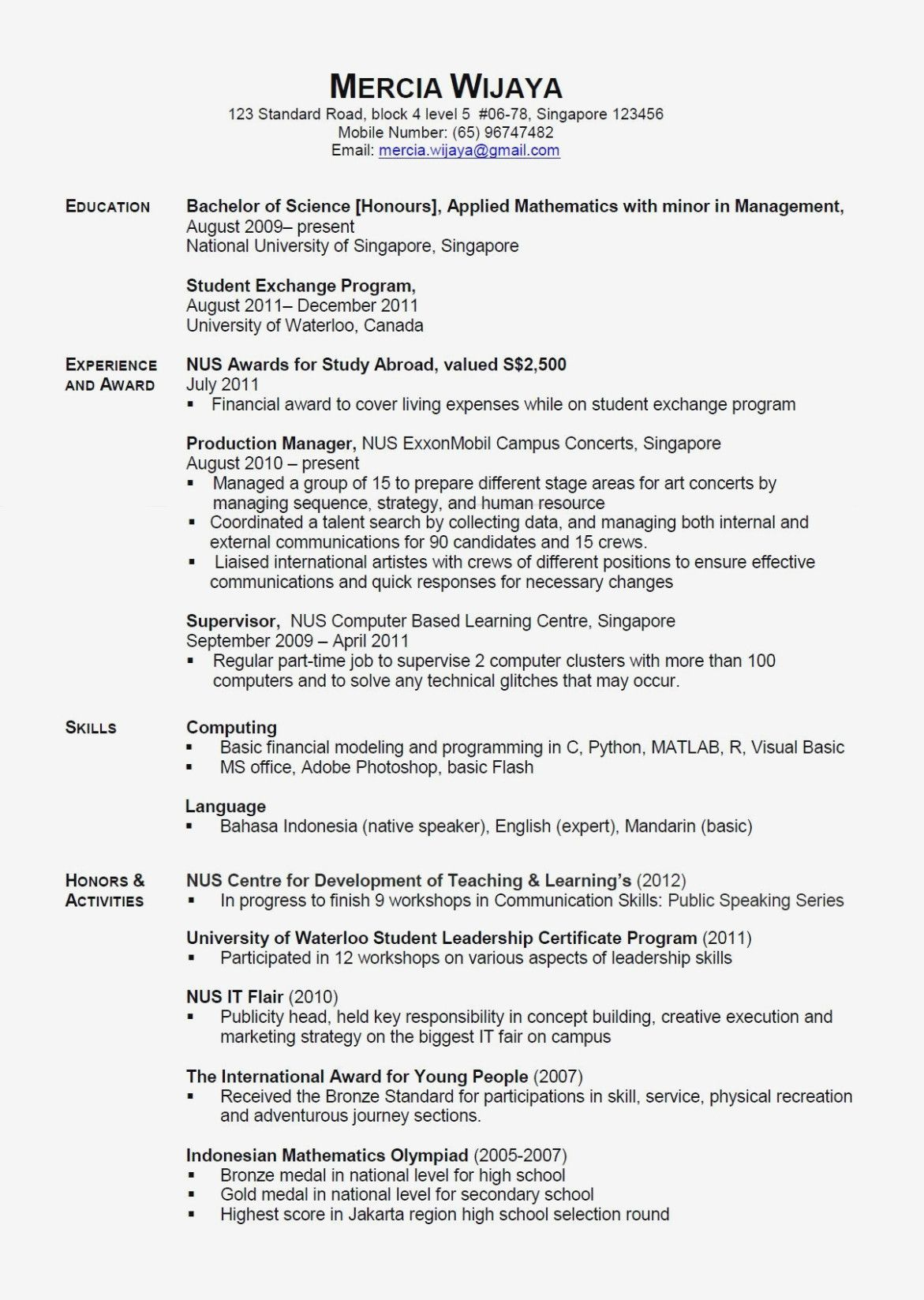 5 Importance Talking Math Home Cover letter for resume