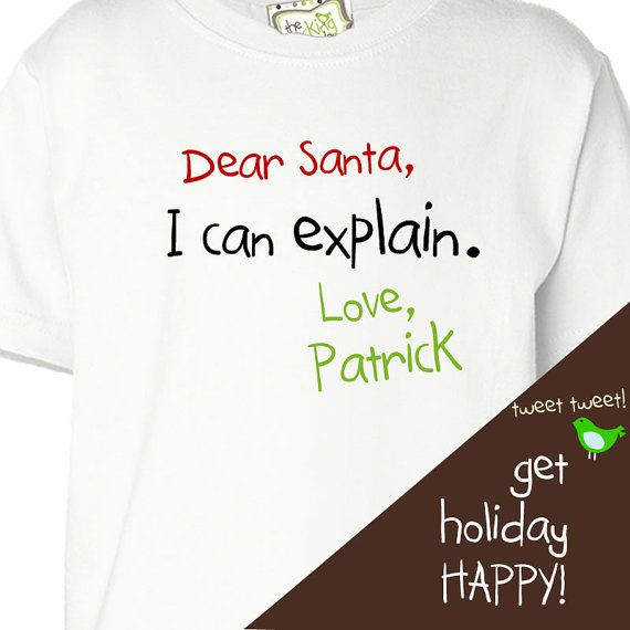 1f23d53bc personalized christmas shirt for kids funny by zoeysattic on Etsy, $16.50