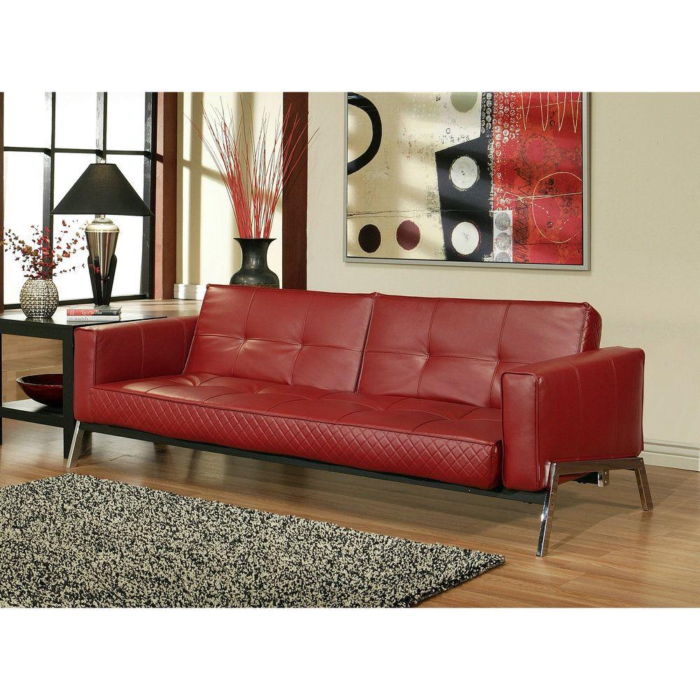 Overstock sofa abbyson living frankfurt faux leather