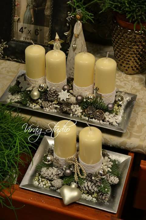 Advent wreaths Navidad Pinterest Decoración navideña, Navidad