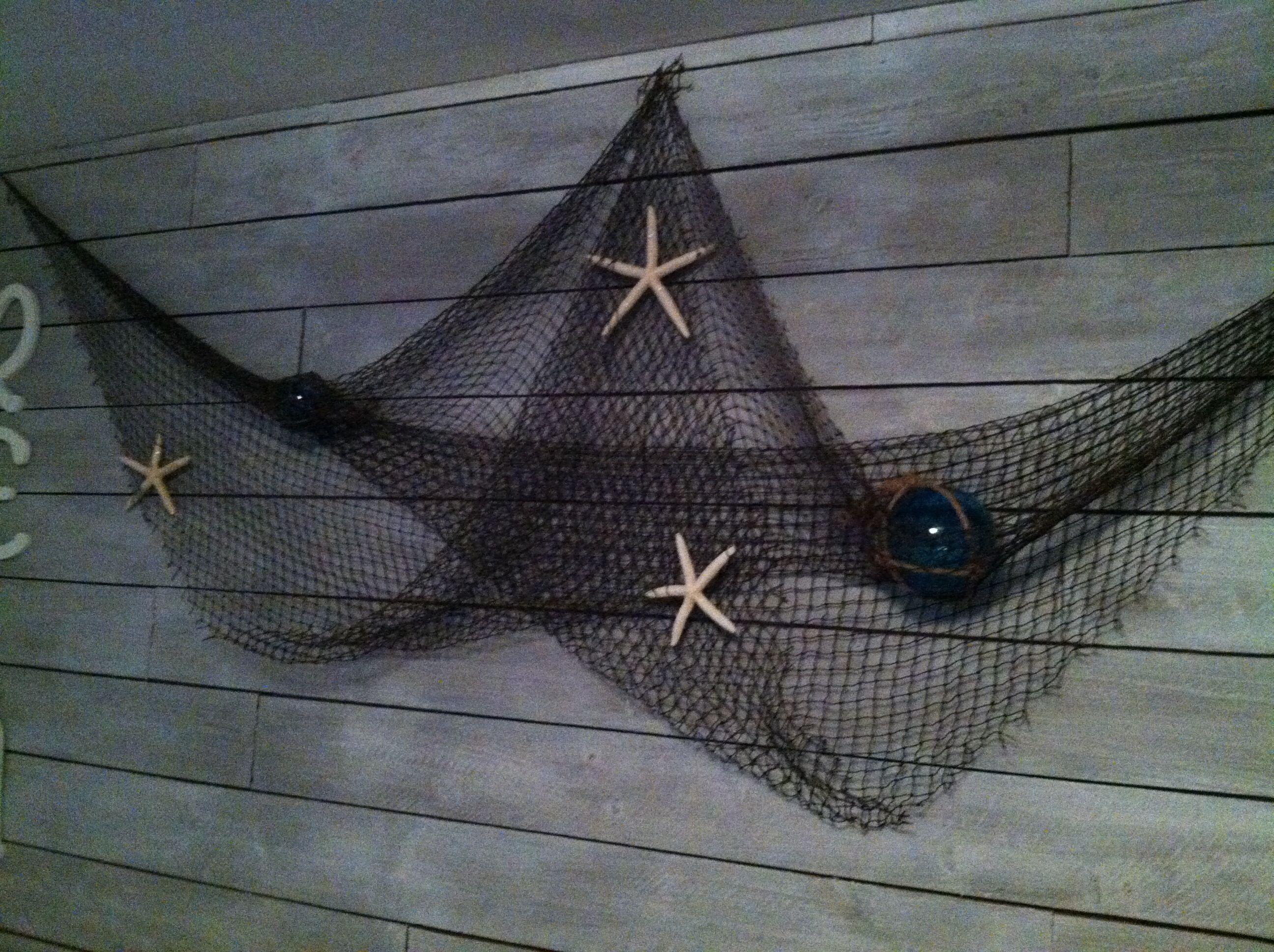 Fish net wall decor my home remodel pinterest wall decor fish net wall decor amipublicfo Gallery