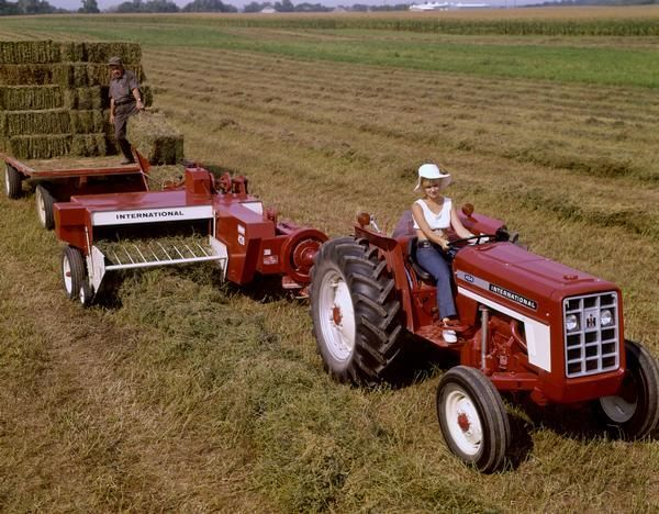 Baling Hay with International 454 Tractor and 420 Baler    the guy