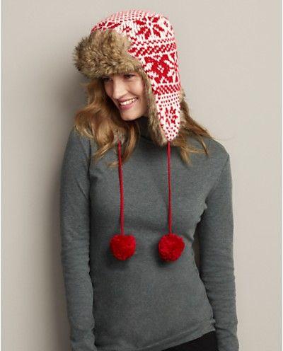 886ad1acd38 Reindeer Snowflake Reversible Hat