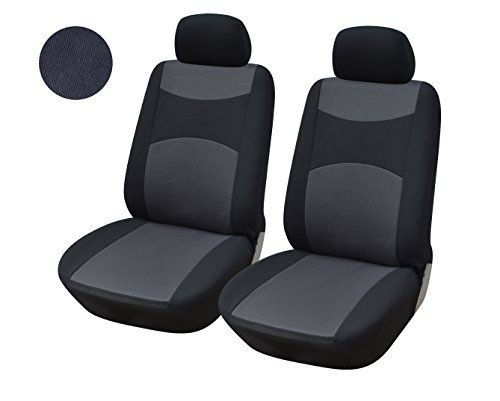 116001 Blackfabric 2 Front Car Seat Covers Compatible To Jeep Grand Cherokee Cherokee Renegade Wrangler Unlimited Wrangler Compass Patriot 20172007 Click Imag